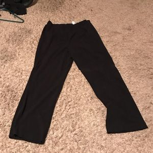 Black dress pants straight  leg